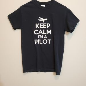 Keep Calm I'm a Pilot Gildan Black Tshirt